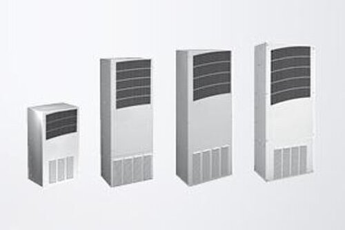 Outdoor cooling units for wall mounting